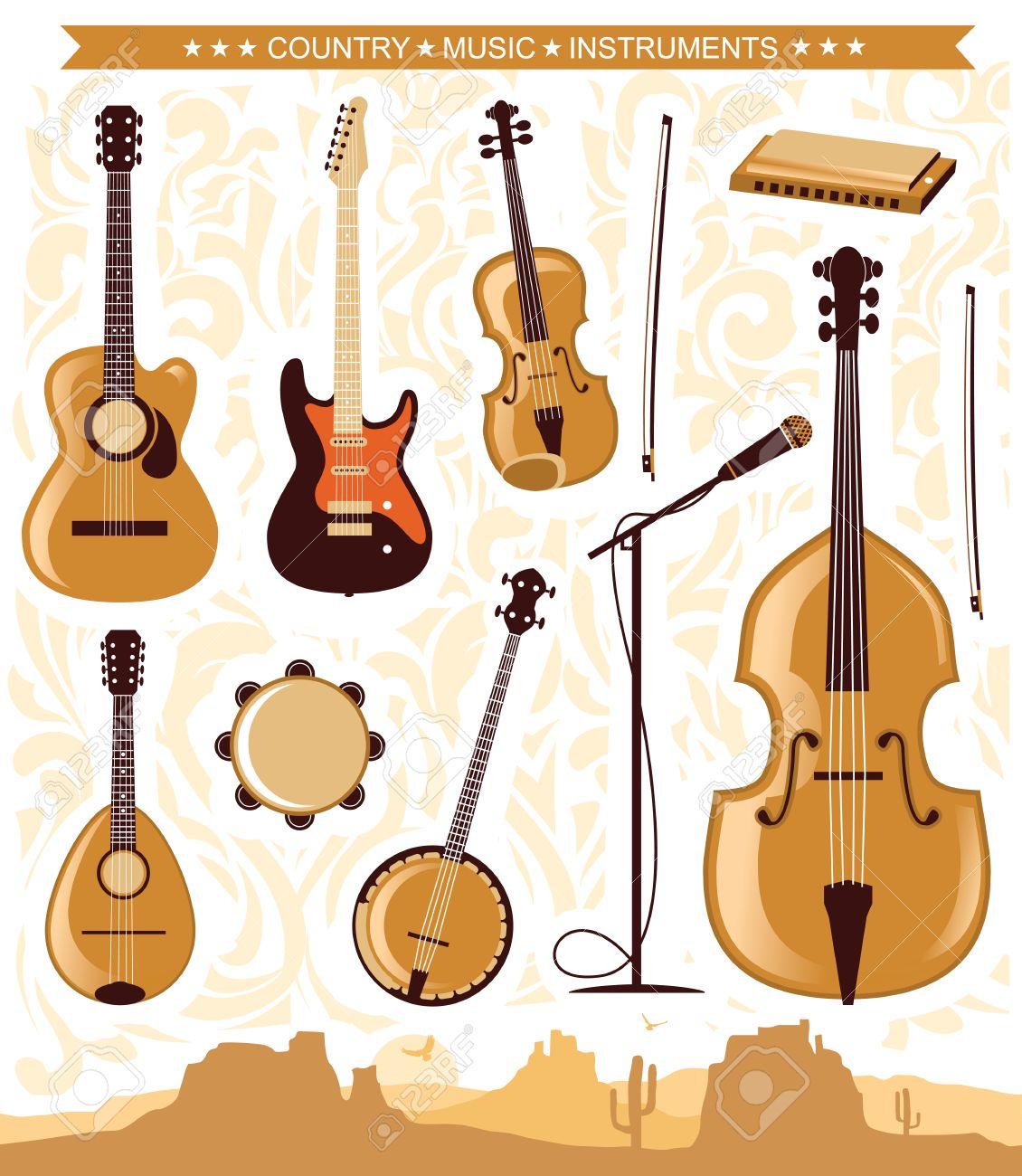 Set of country music instrumentsctor illustration of symbol set of country music instrumentsctor illustration of symbol for design stock vector 40371968 buycottarizona