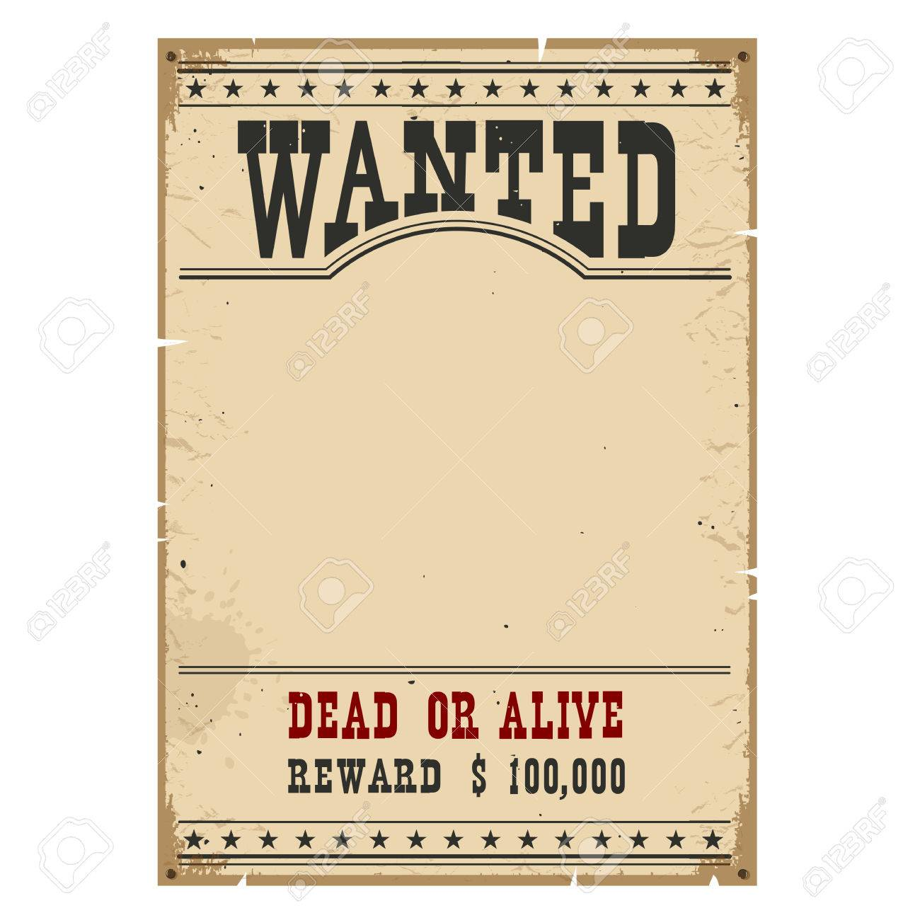 Wanted poster on wood wall texture for portrait.Western vintage paper - 56451049