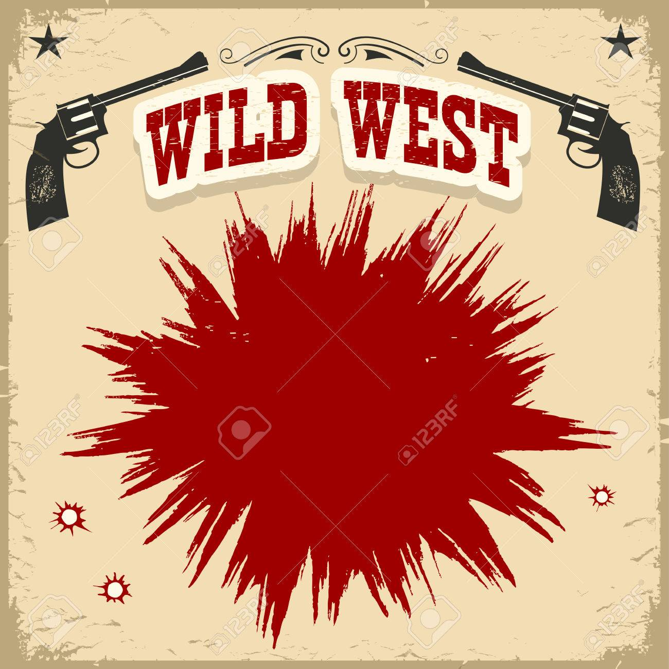 Wild west town vector background Clipart | k28930585 | Fotosearch