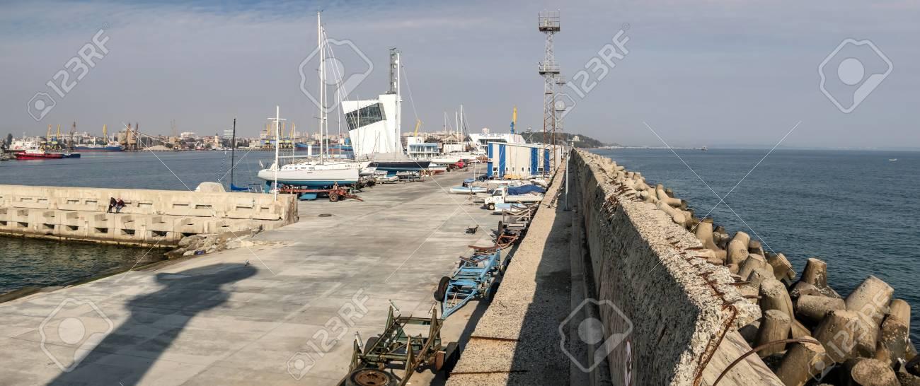 Burgas pier panorama - 115642518