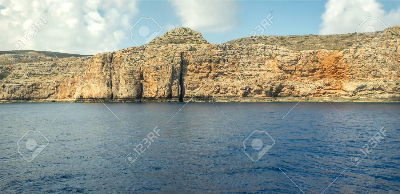 Island in sea panorama - 115631845