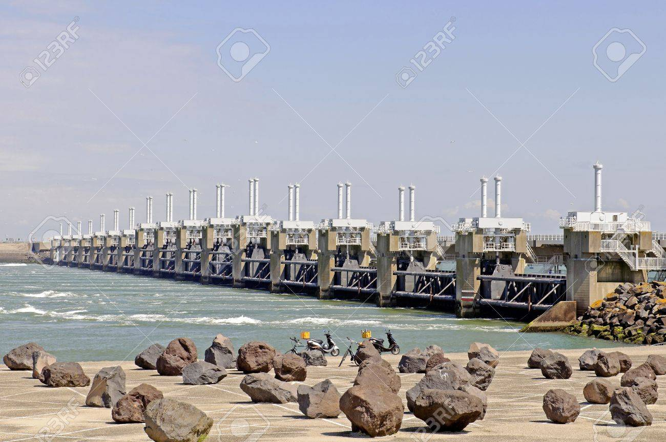 Dutch water technology  Neeltje Jans Stock Photo - 13974872