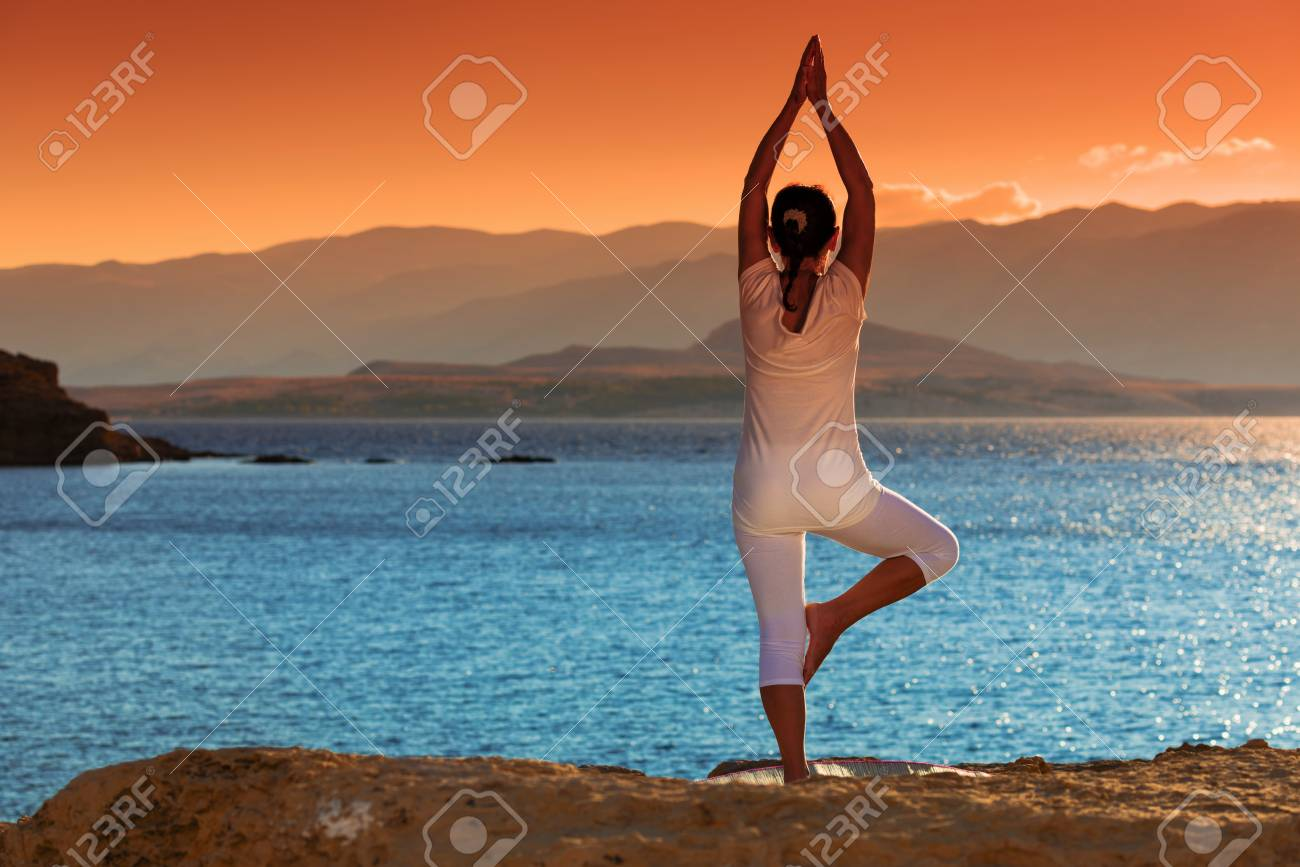 healthy middle aged woman doing fitness stretching outdoors Stock Photo - 22101734