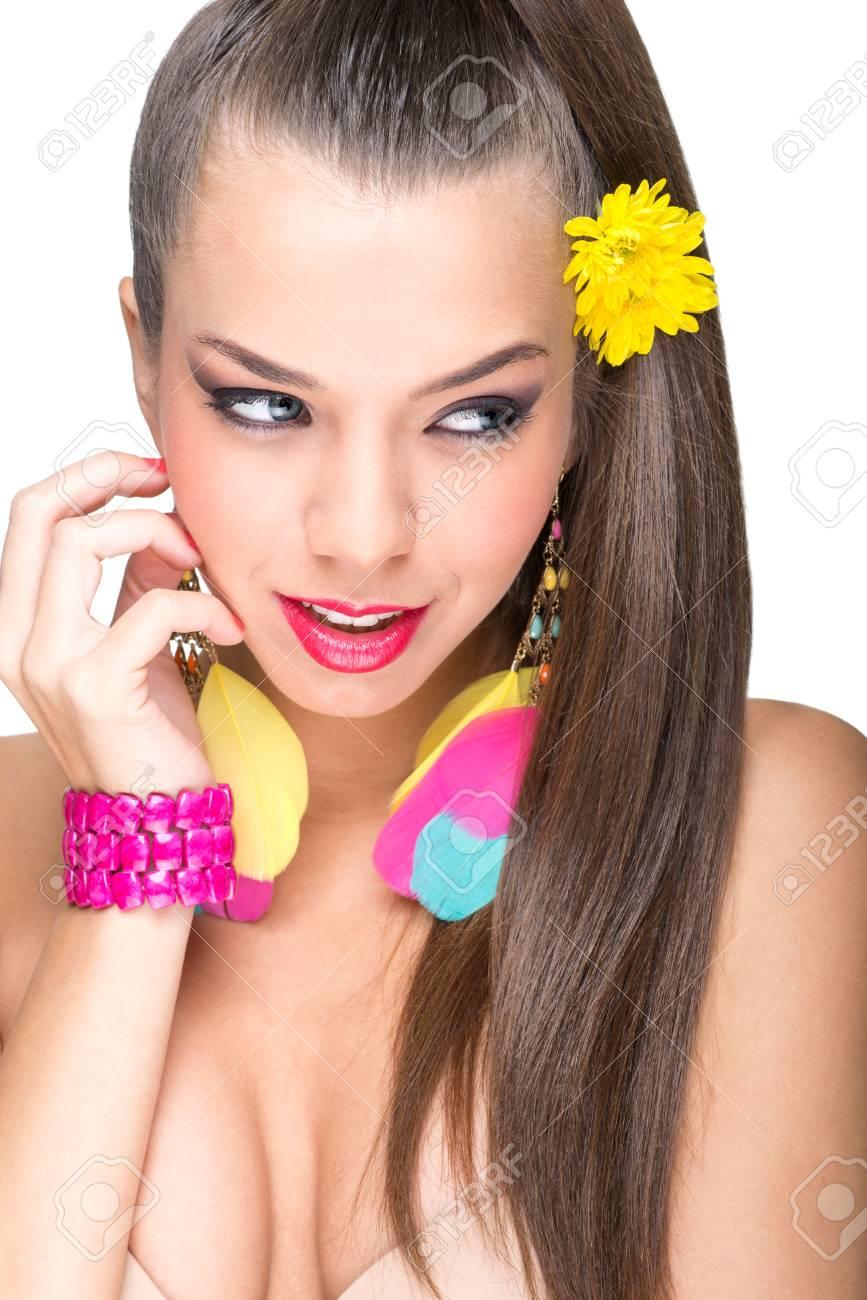 Beautiful makeup model Stock Photo - 24260779