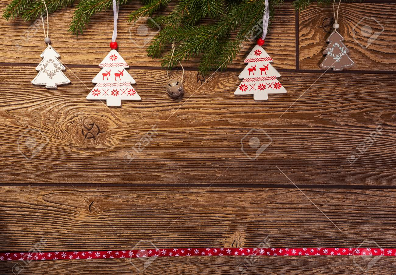 Christmas Decoration, Fir Branch Norwegian Themed Decorations Stock ...