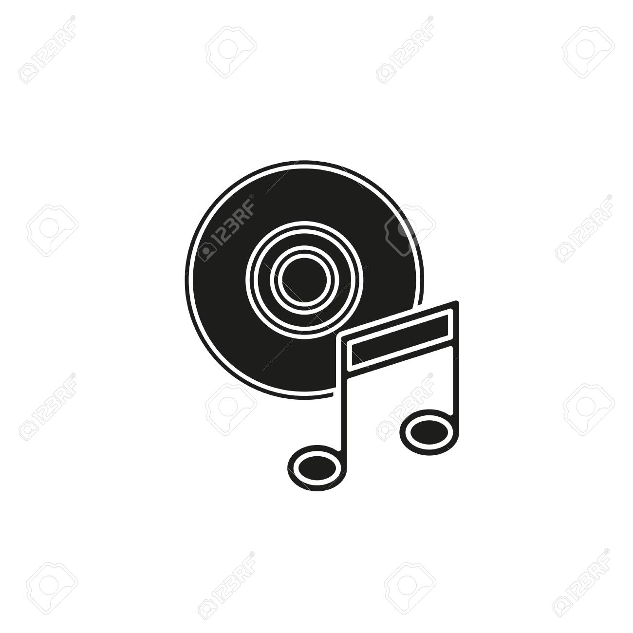 music note dvd button - media or music player - multimedia icon