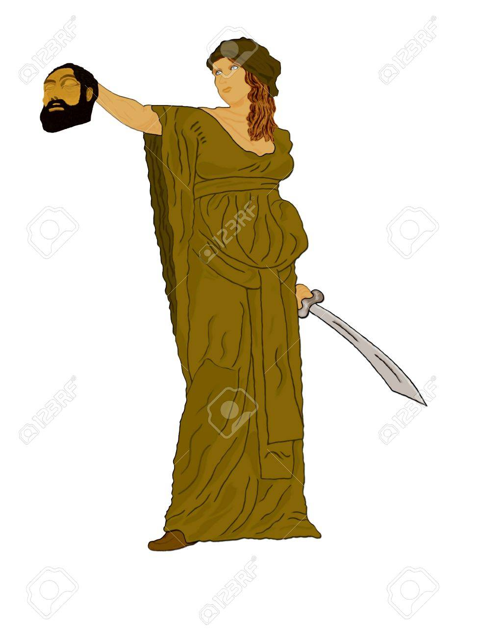 Judith holding up the head of Holofermes Stock Photo - 11008239