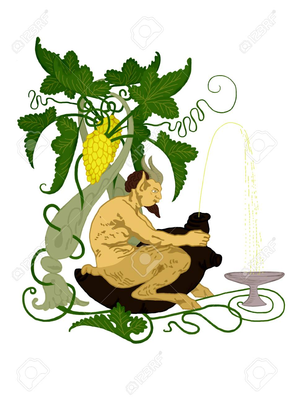 Illustration of the mythological satyr Stock Illustration - 11008224
