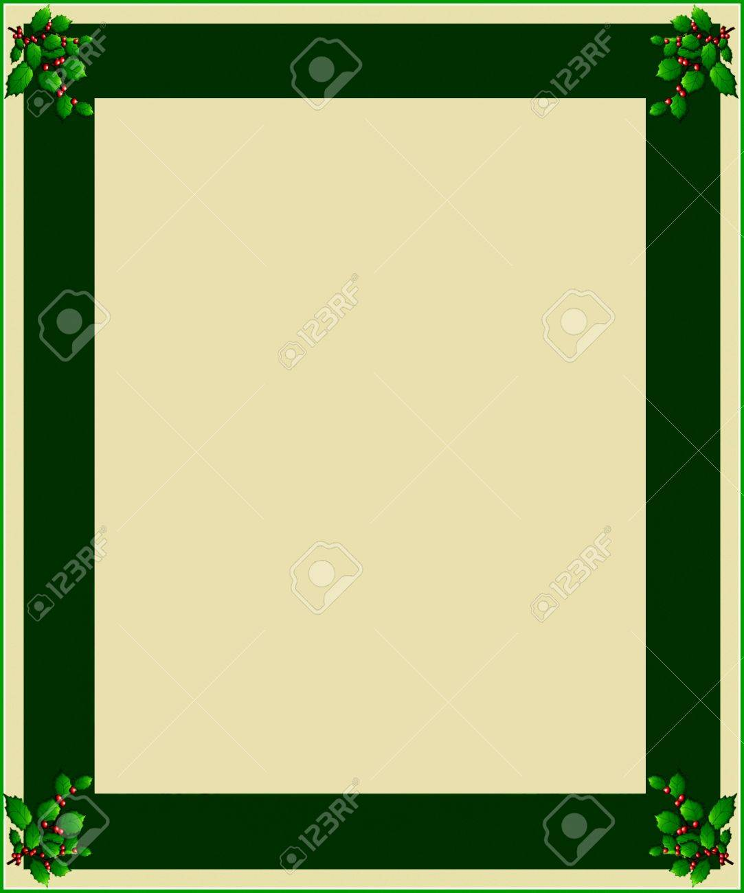Christmas frame for greeting card with decorative ornaments. Stock Photo - 11298538