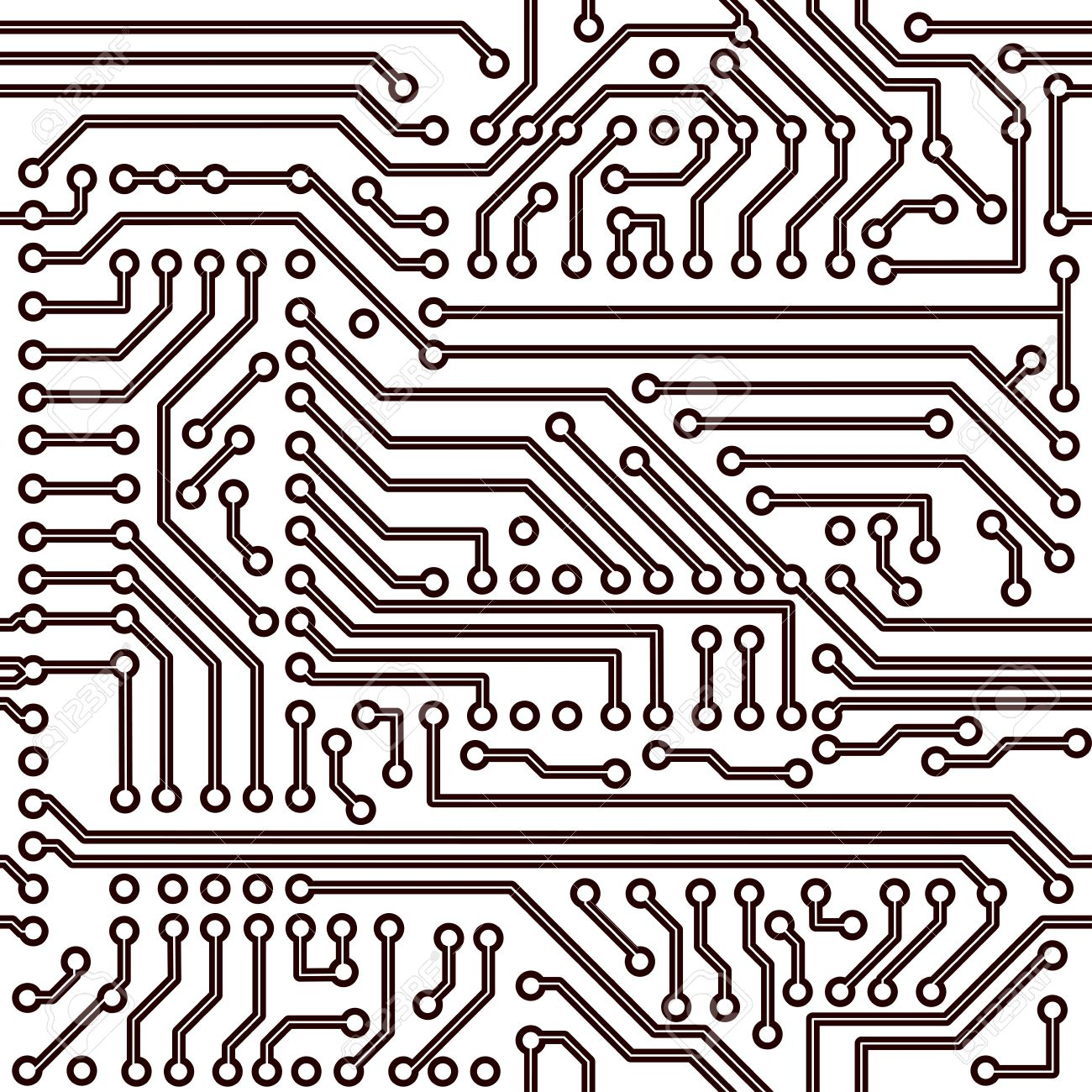 Seamless Pattern - Electronic Circuit Board Background Royalty ...