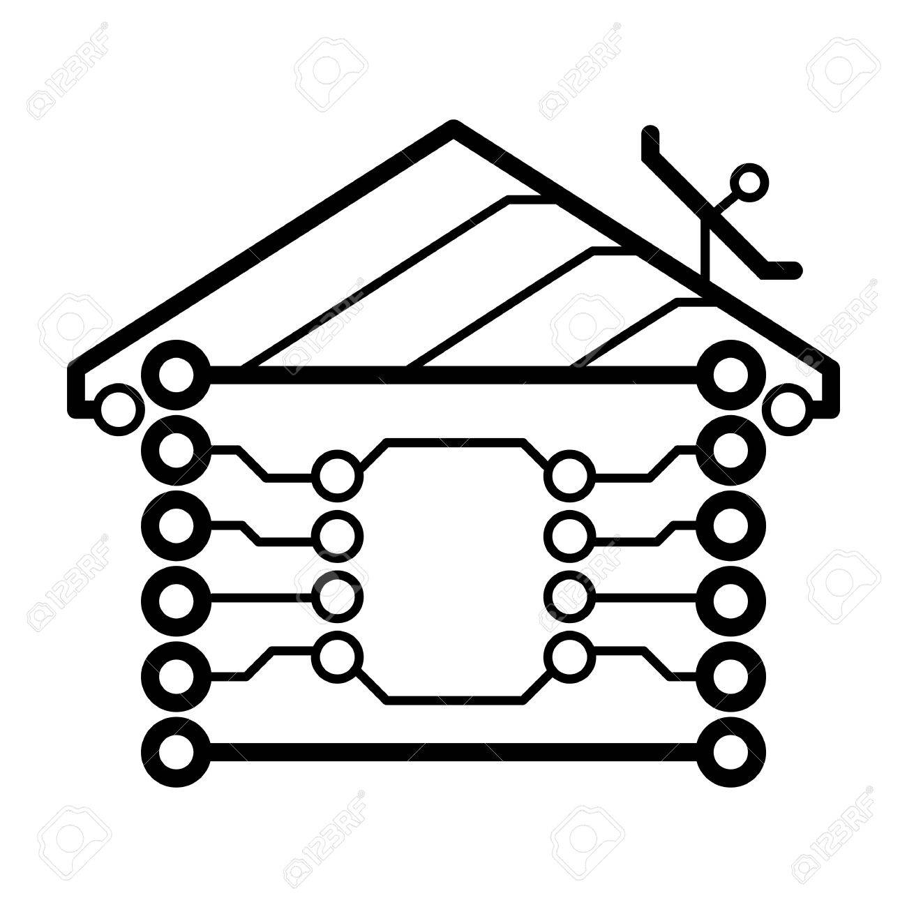 Electronic Circuit Board Clipart Hitech Vector Blank Vignette Fotosearch House Logo Royalty Free Cliparts
