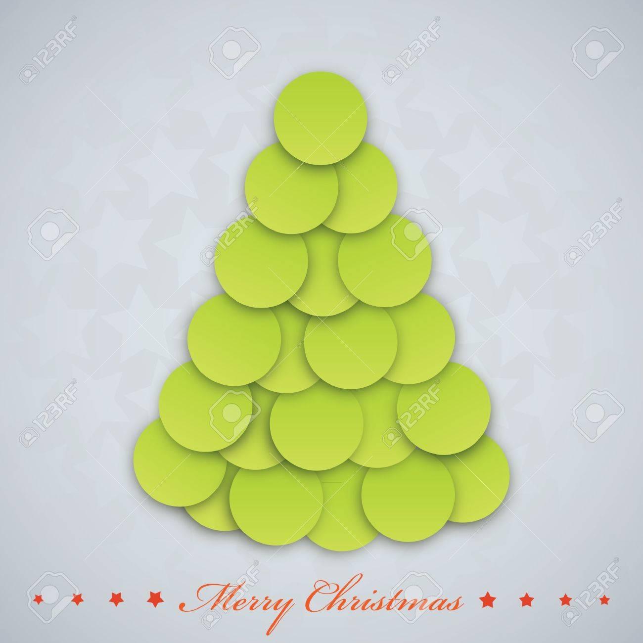 Vector modern  Christmas tree. Xmas card. Stock Vector - 15839384