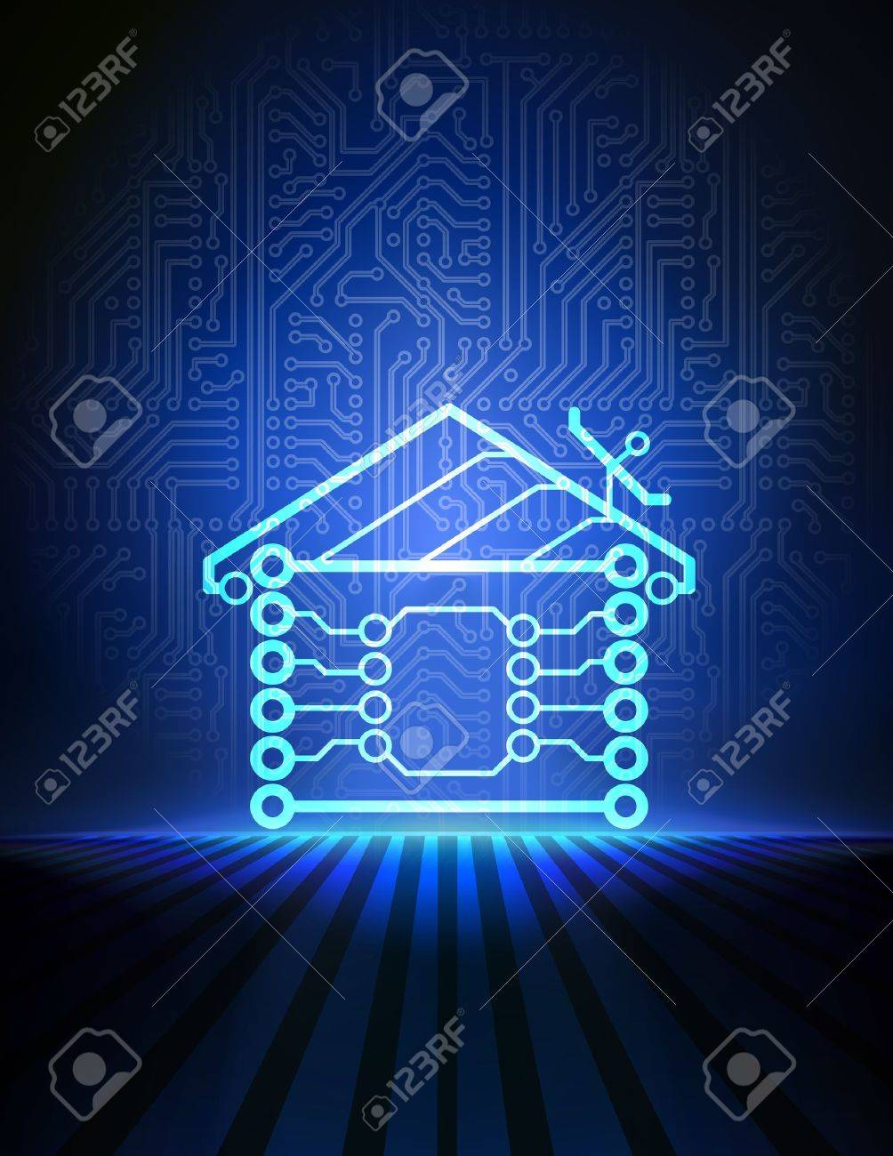 home automation background Stock Vector - 18868511