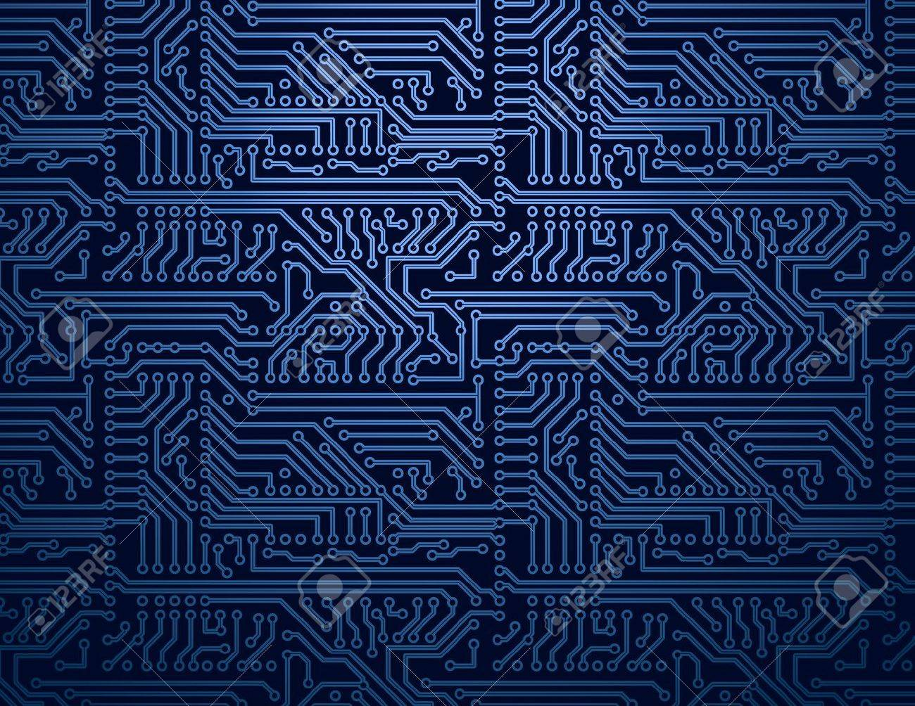 Vector Blue Circuit Board Background Royalty Free Cliparts, Vectors ...