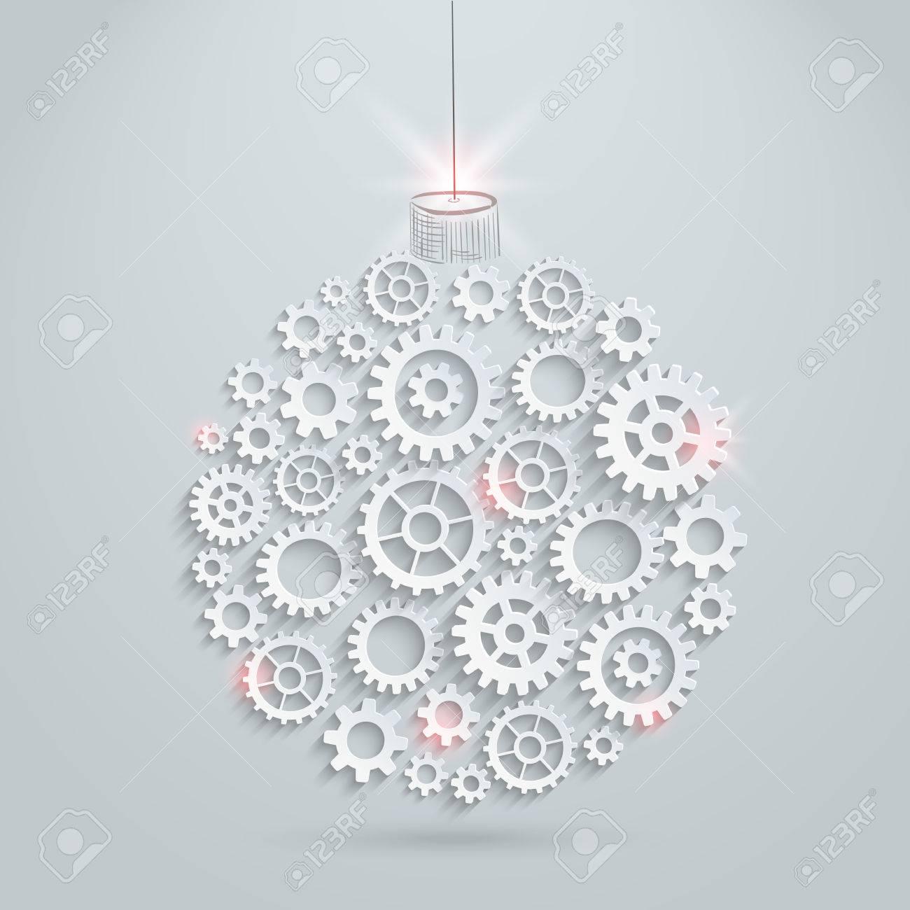 Vector gears christmas ball royalty free cliparts vectors and vector gears christmas ball stock vector 24366159 aloadofball Images