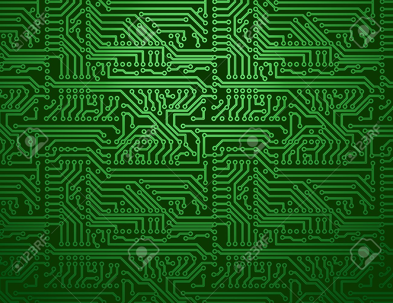 Vector Green Circuit Board Background Royalty Free Cliparts, Vectors ...