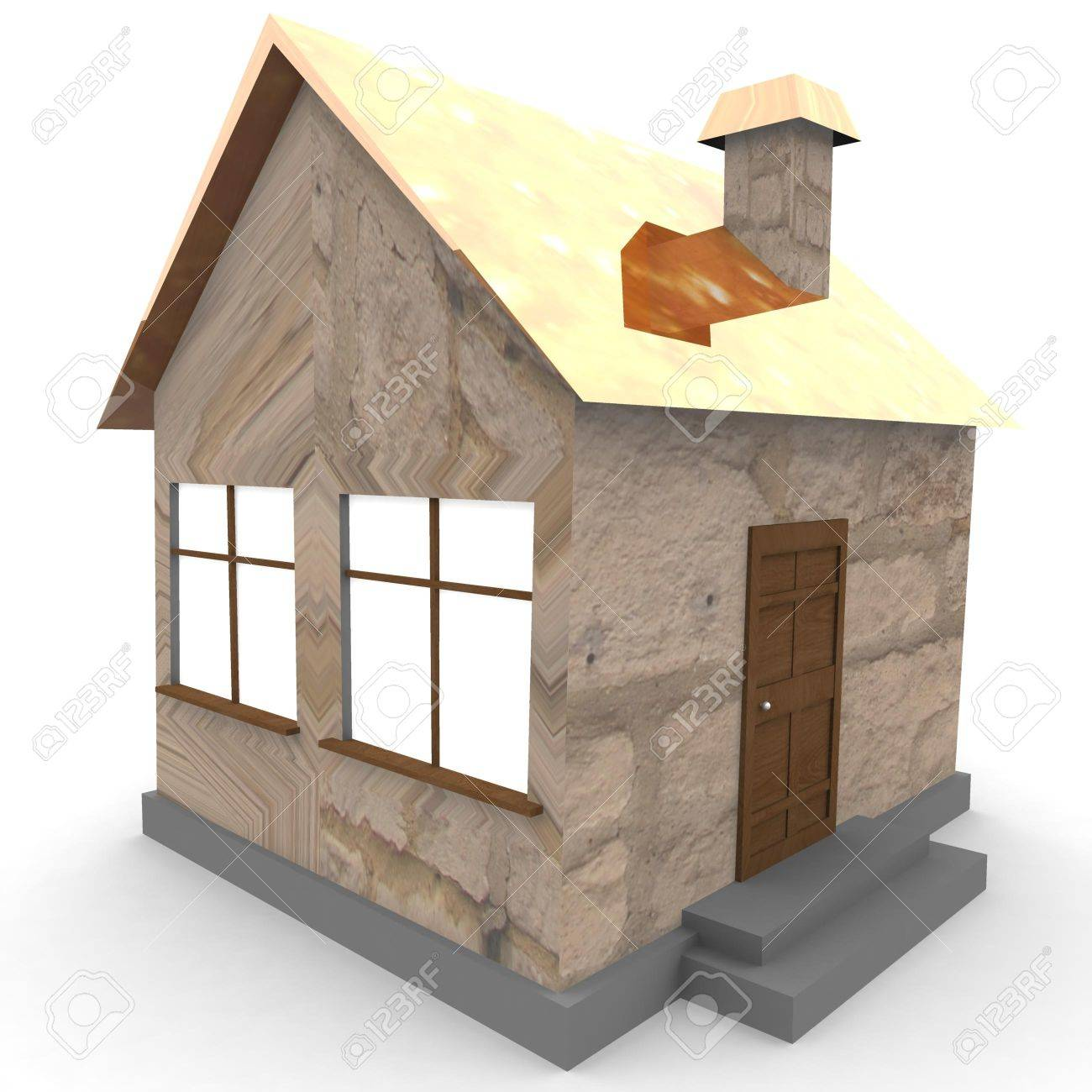 Model Of A House 3d Computer Modeling Stock Photo