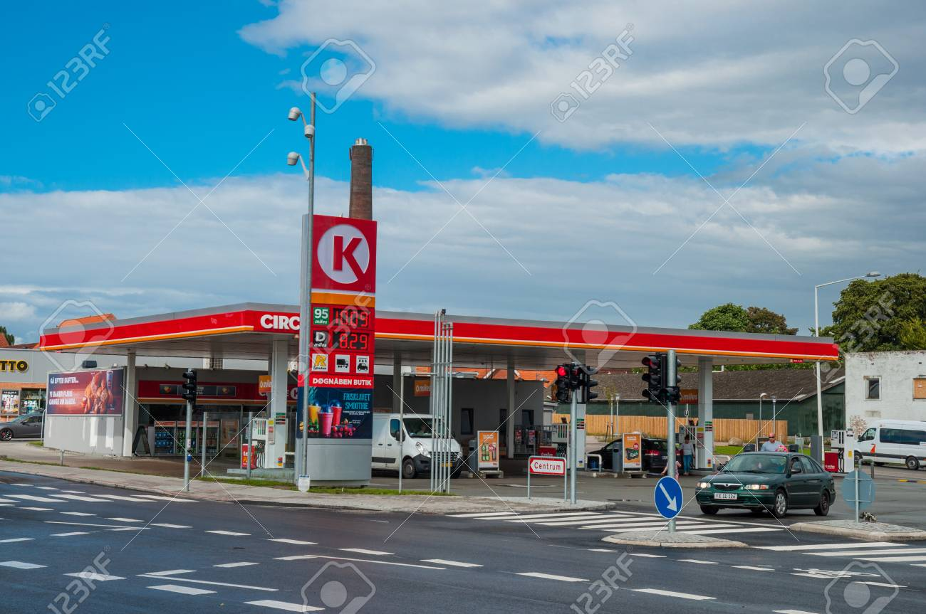 Ringsted, Denmark - August 4  2017: Circle K Gas Station