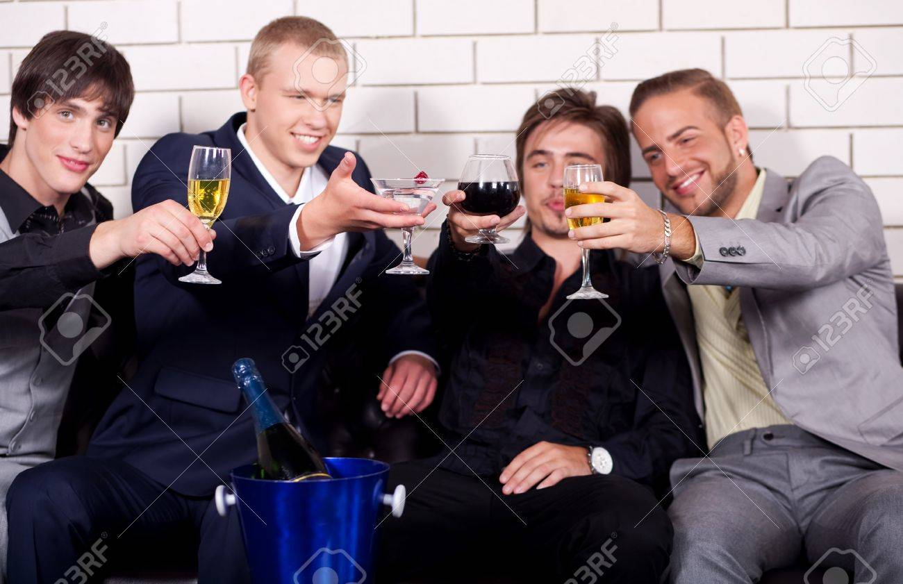Group of friends have fun and drink at night club Stock Photo - 7261635