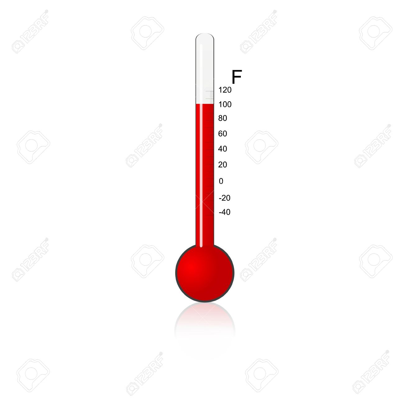 illustration of  thermometer on isolated background Stock Photo - 7714826