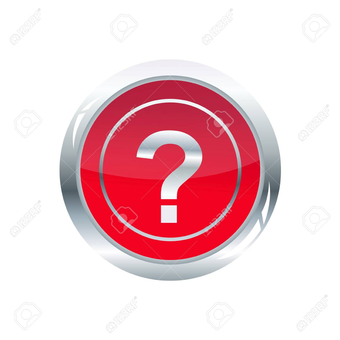 illustration of question mark glossy icon on white background Stock Illustration - 7743255