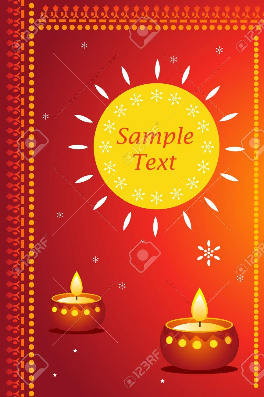 Great Way For Expressing Diwali Greetings With Sample Text Stock