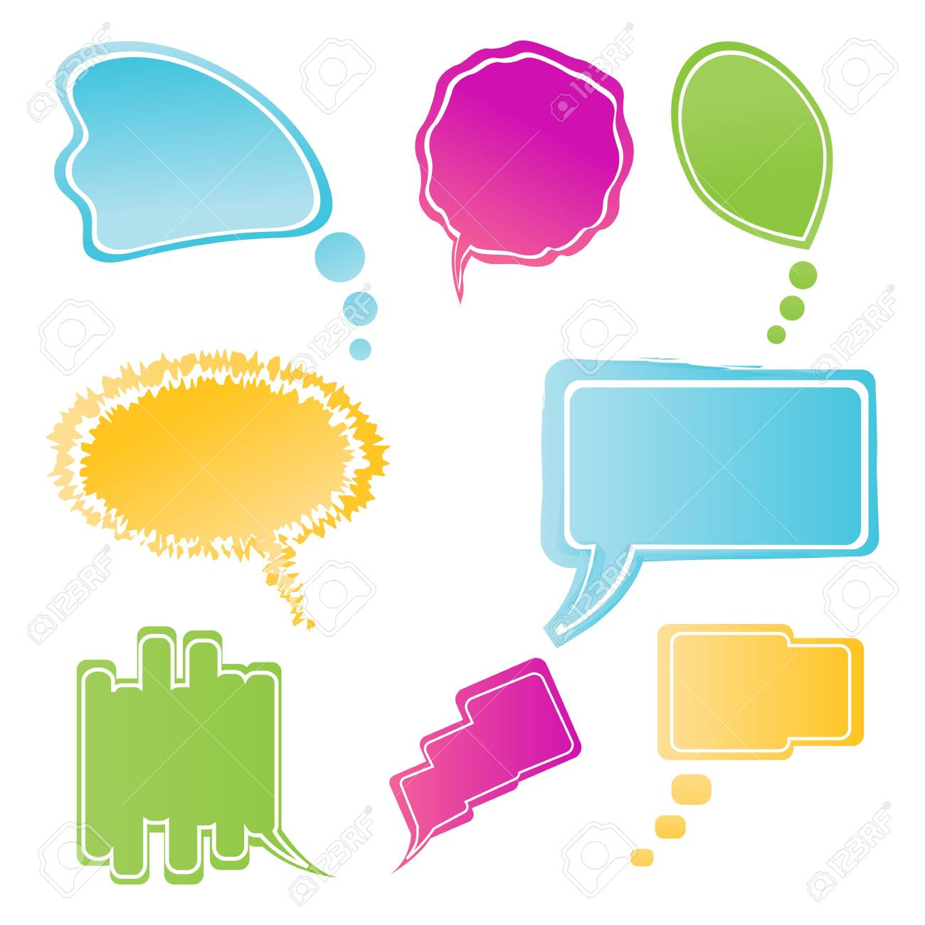 illustration of set of colorful speech bubbles Stock Photo - 8112647