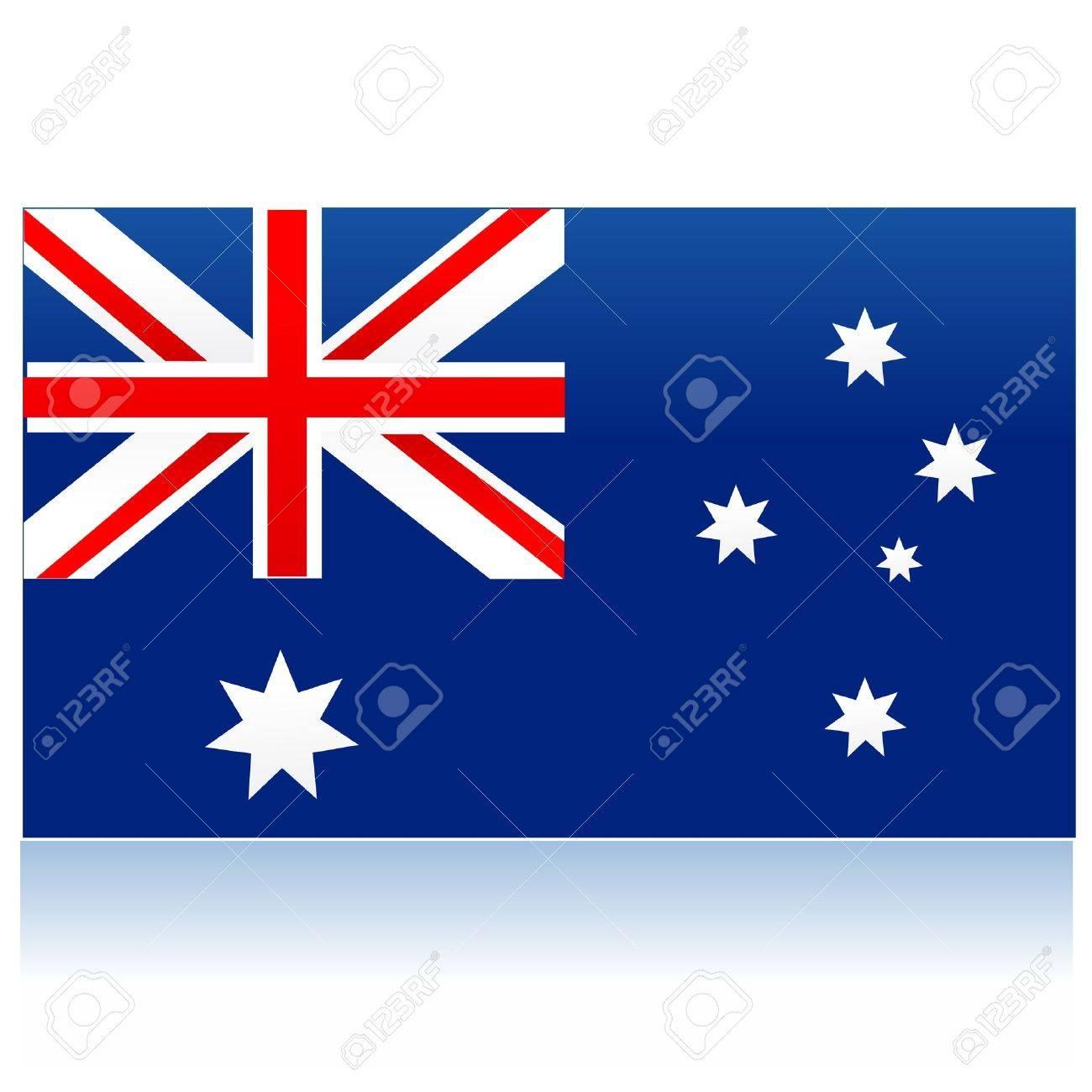 illustration of flag of australia Stock Vector - 8246899