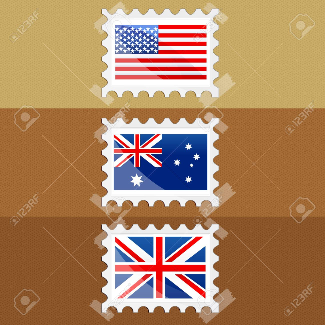illustration of flag of different countries stic together Stock Vector - 8248111