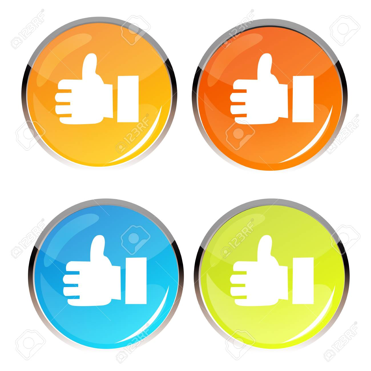 illustration of thumbs up symbol on white background Stock Vector - 8247357