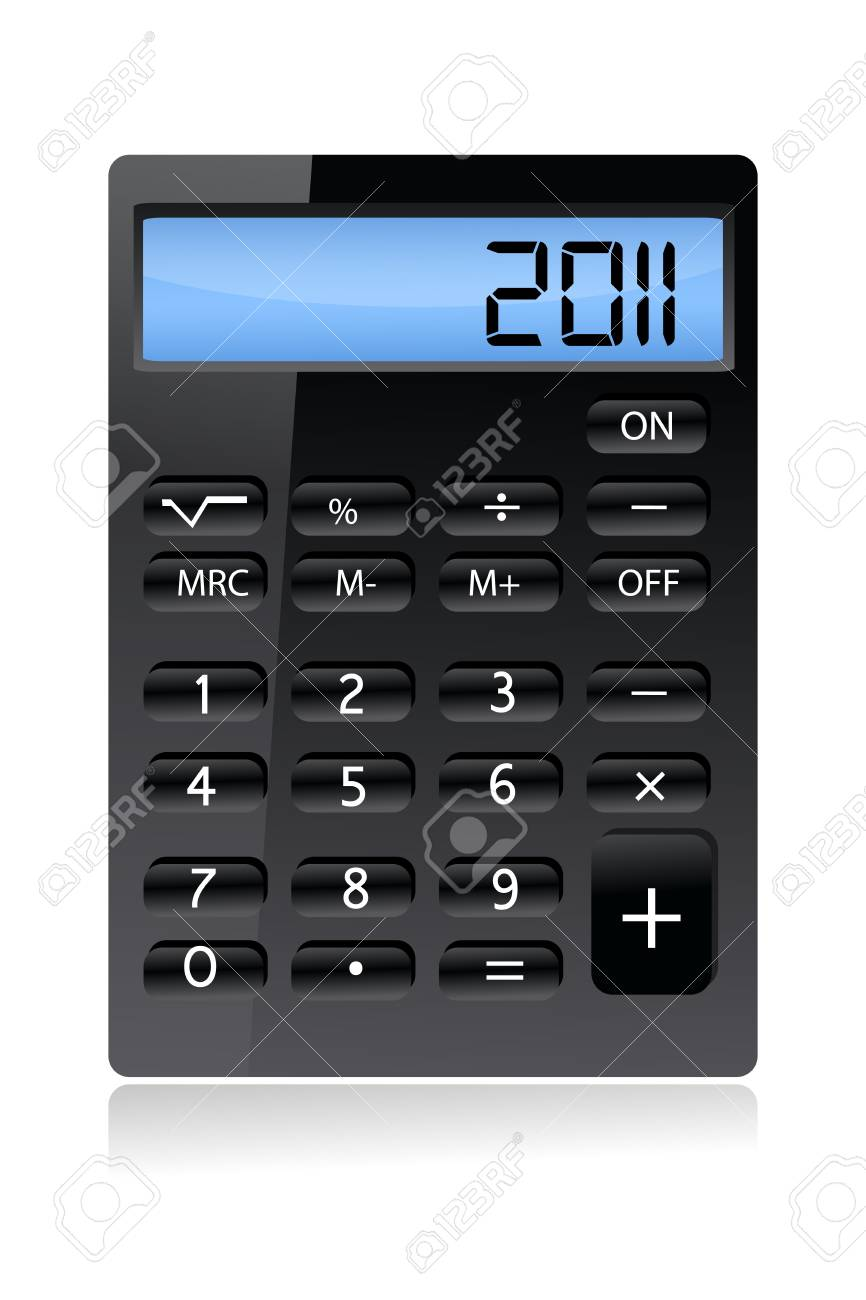 illustration of calculator on white background Stock Vector - 8247121
