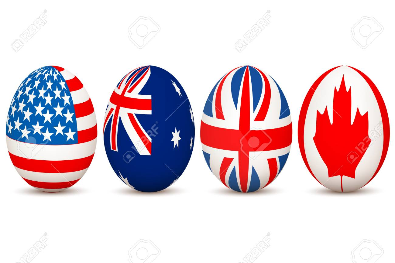 illustration of country flags on egg with white background Stock Vector - 8247894