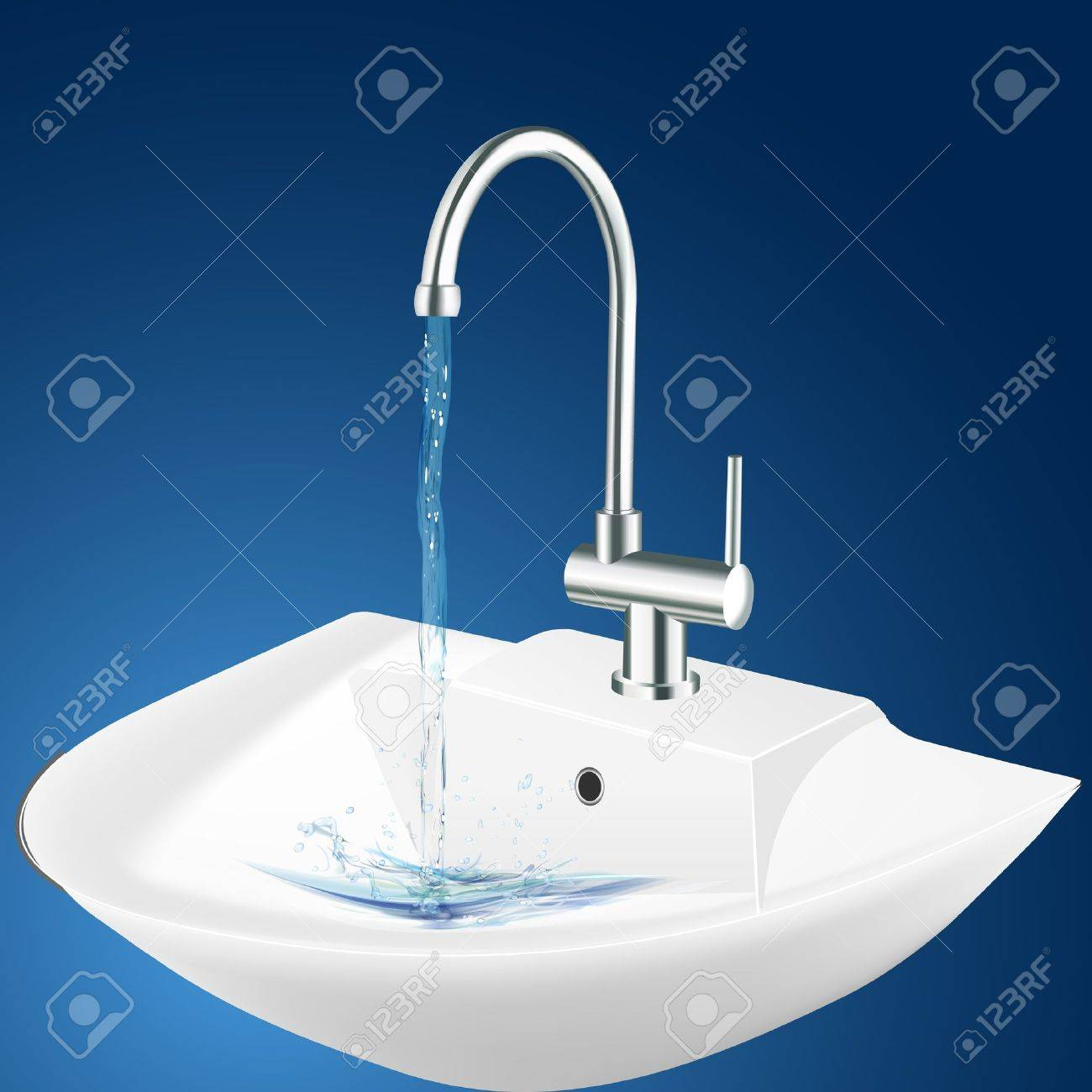 illustration of wash basin Stock Vector - 8248049