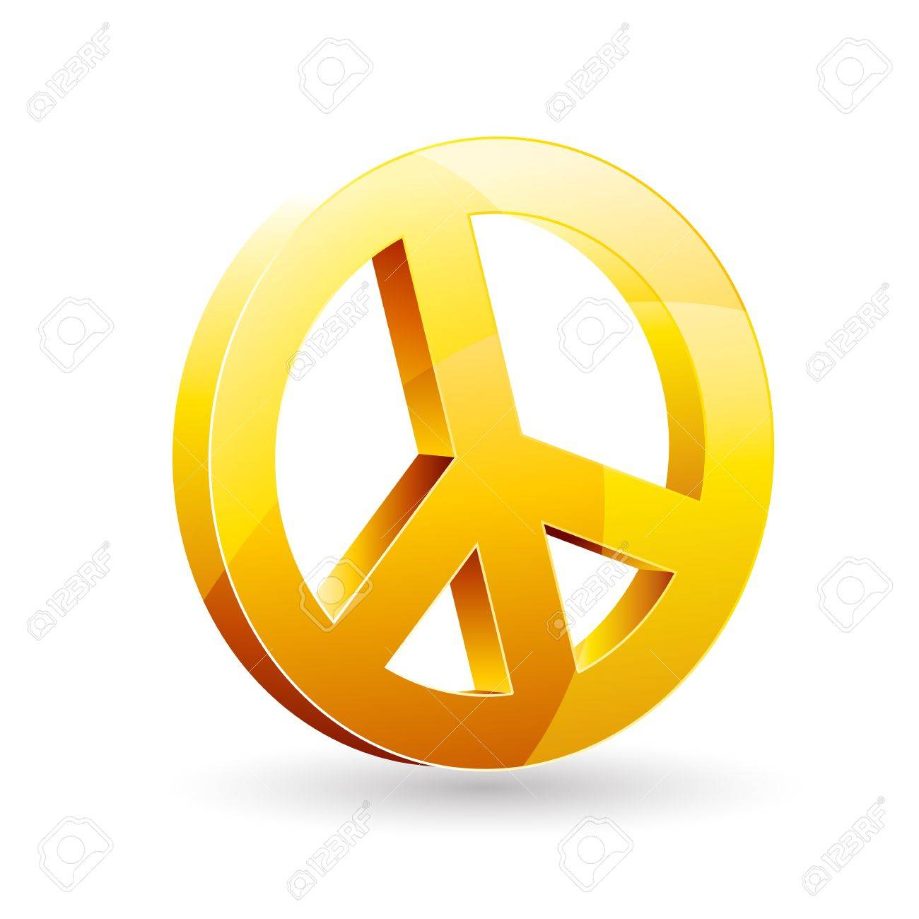 Illustration Of Peace Sign On White Background Royalty Free Cliparts
