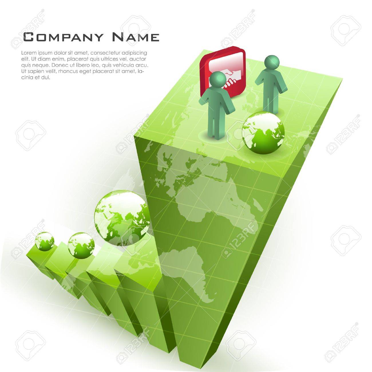 illustration of business card with globe on white background Stock Vector - 8302886