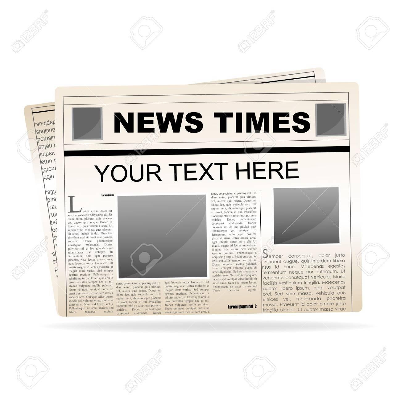 illustration of news paper on white background Stock Vector - 8373559