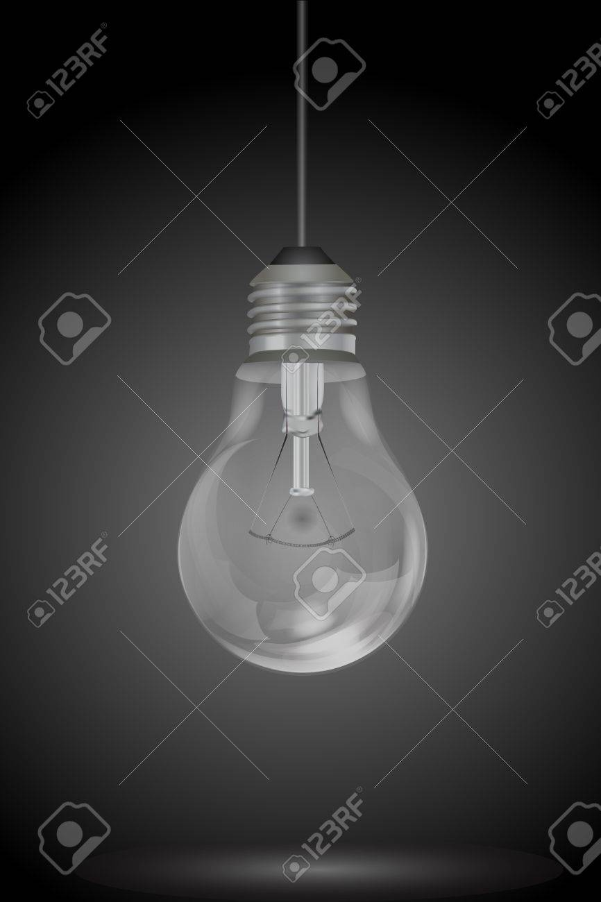 illustration of hanging electric bulb Stock Vector - 8373491