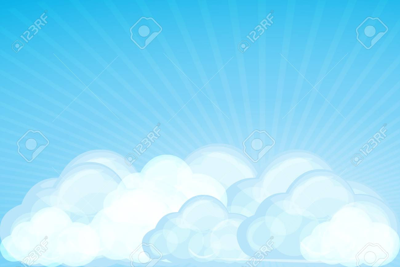 illustration of clouds with wave on white background Stock Vector - 8442055