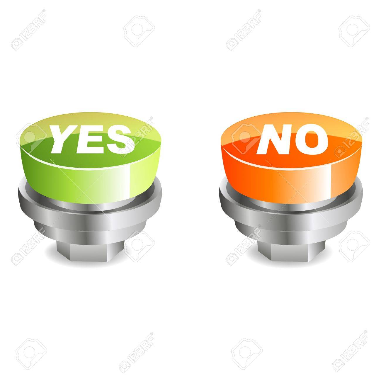 illustration of yes and no buttons on white background Stock Vector - 8441888