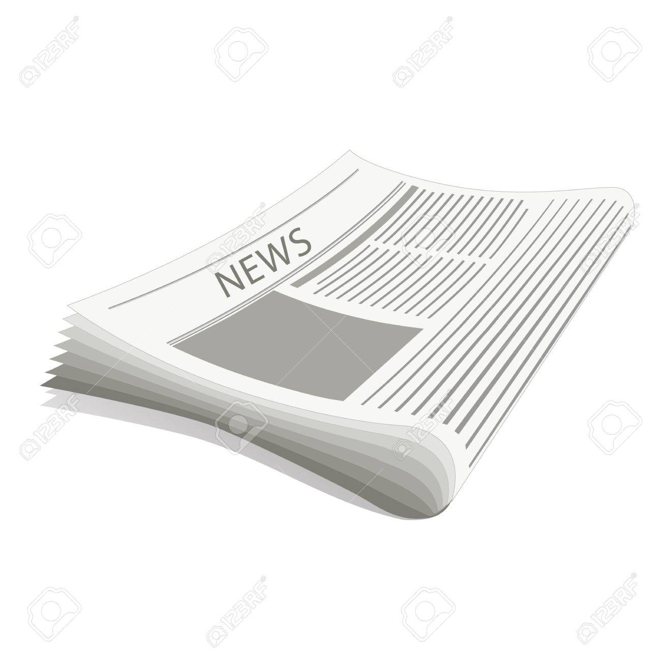 illustratiion of newspaper on white background Stock Vector - 8441592