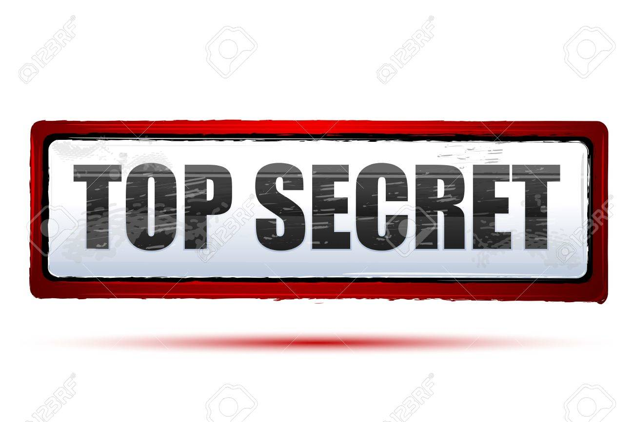 Illustration Of Top Secret On Isolated Background Royalty Free ...