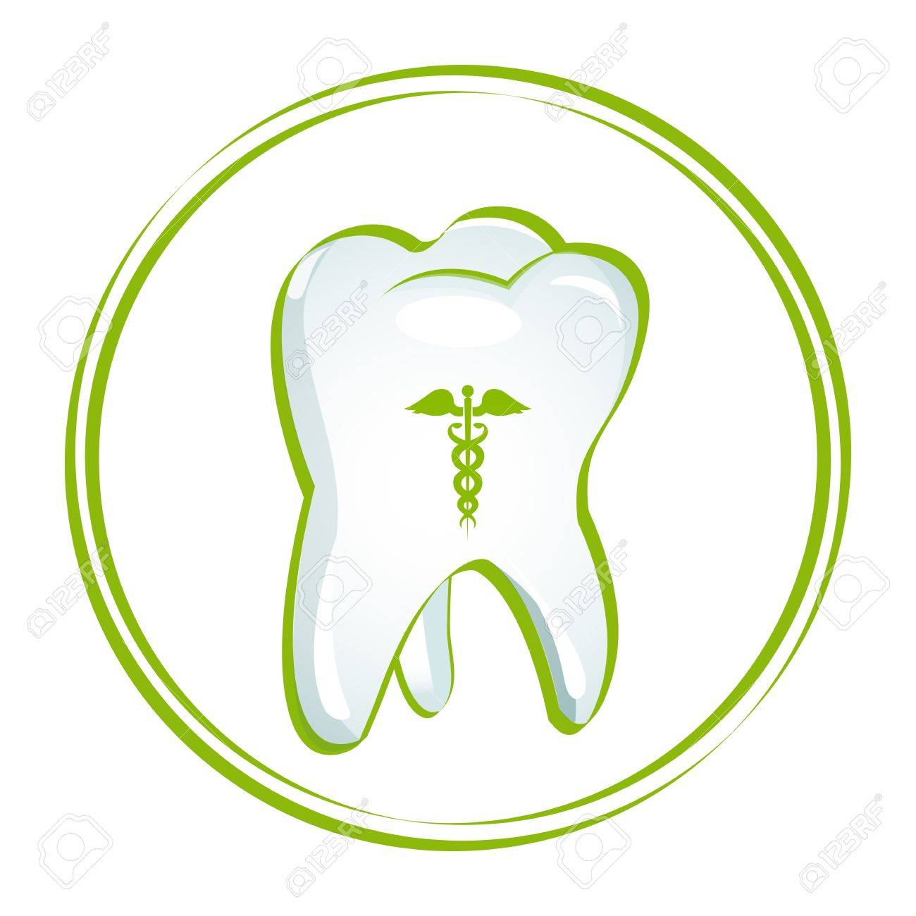 illustration of healthy teeth on white background Stock Vector - 8637155