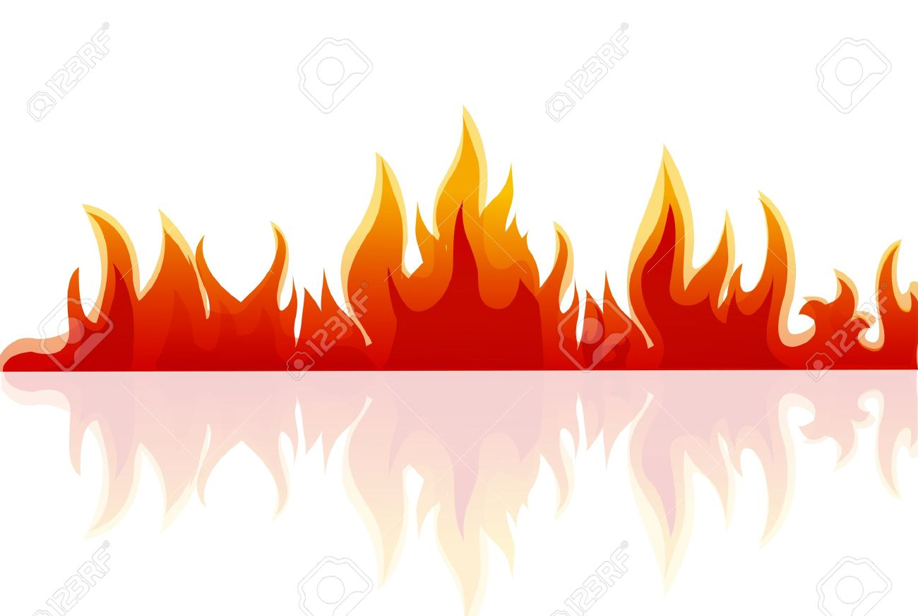 illustration of fire on white background royalty free cliparts