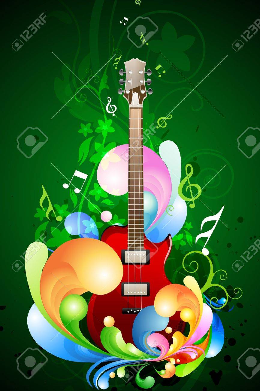 illustration of colorful music card on isolated background Stock Vector - 8637748