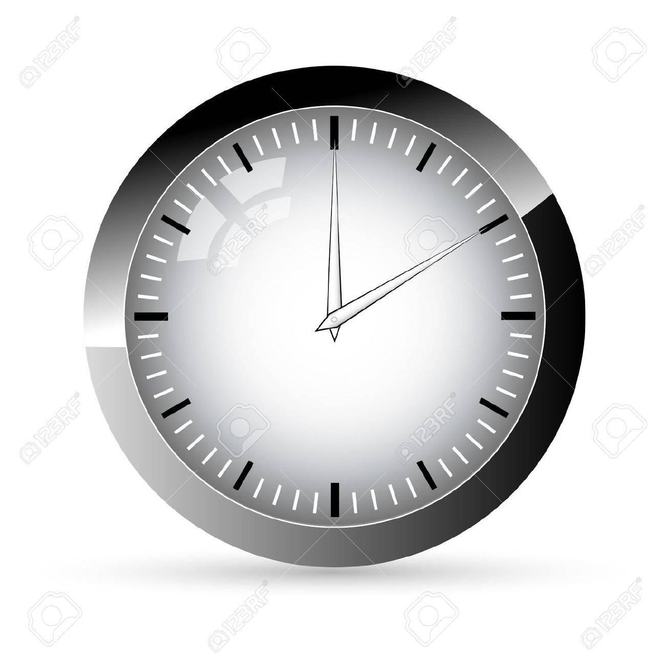 illustration of clock on white background Stock Vector - 9269435