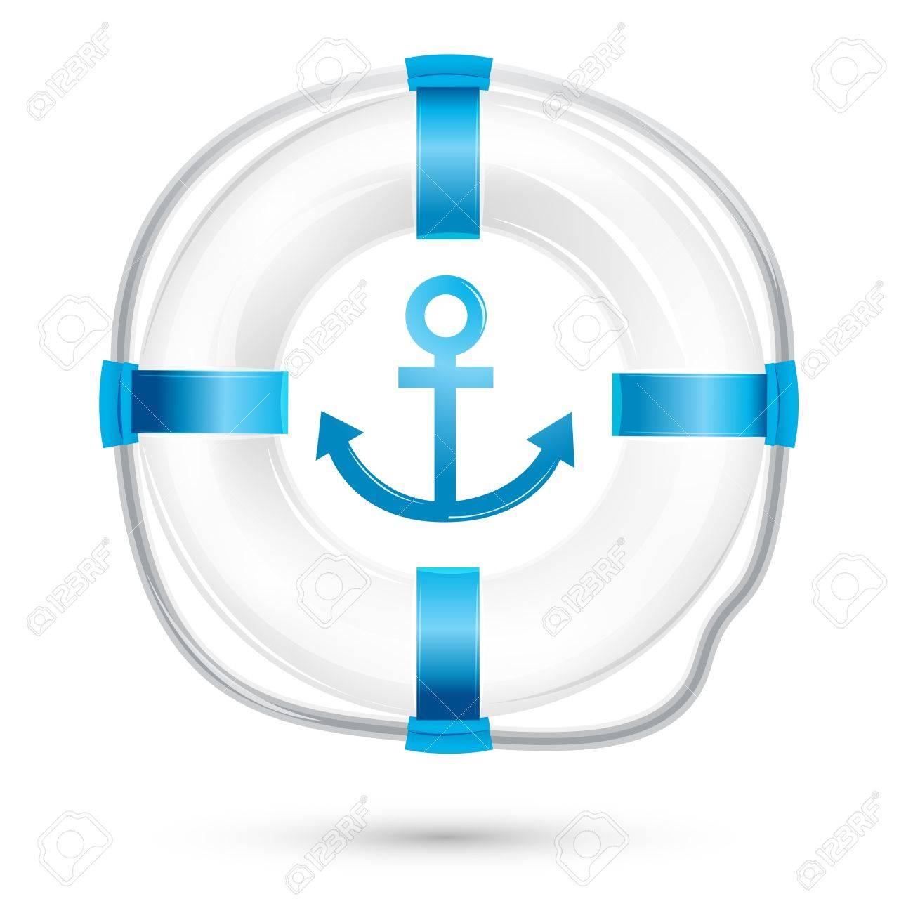 illustration of lifebuoy on white background Stock Vector - 9269506