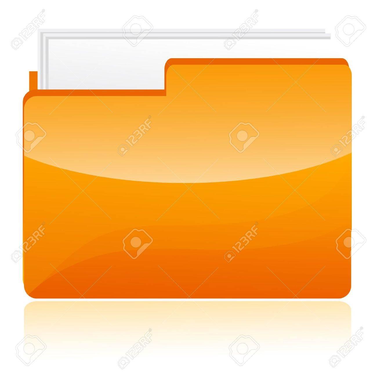 illustration of folder on white background Stock Vector - 9269407