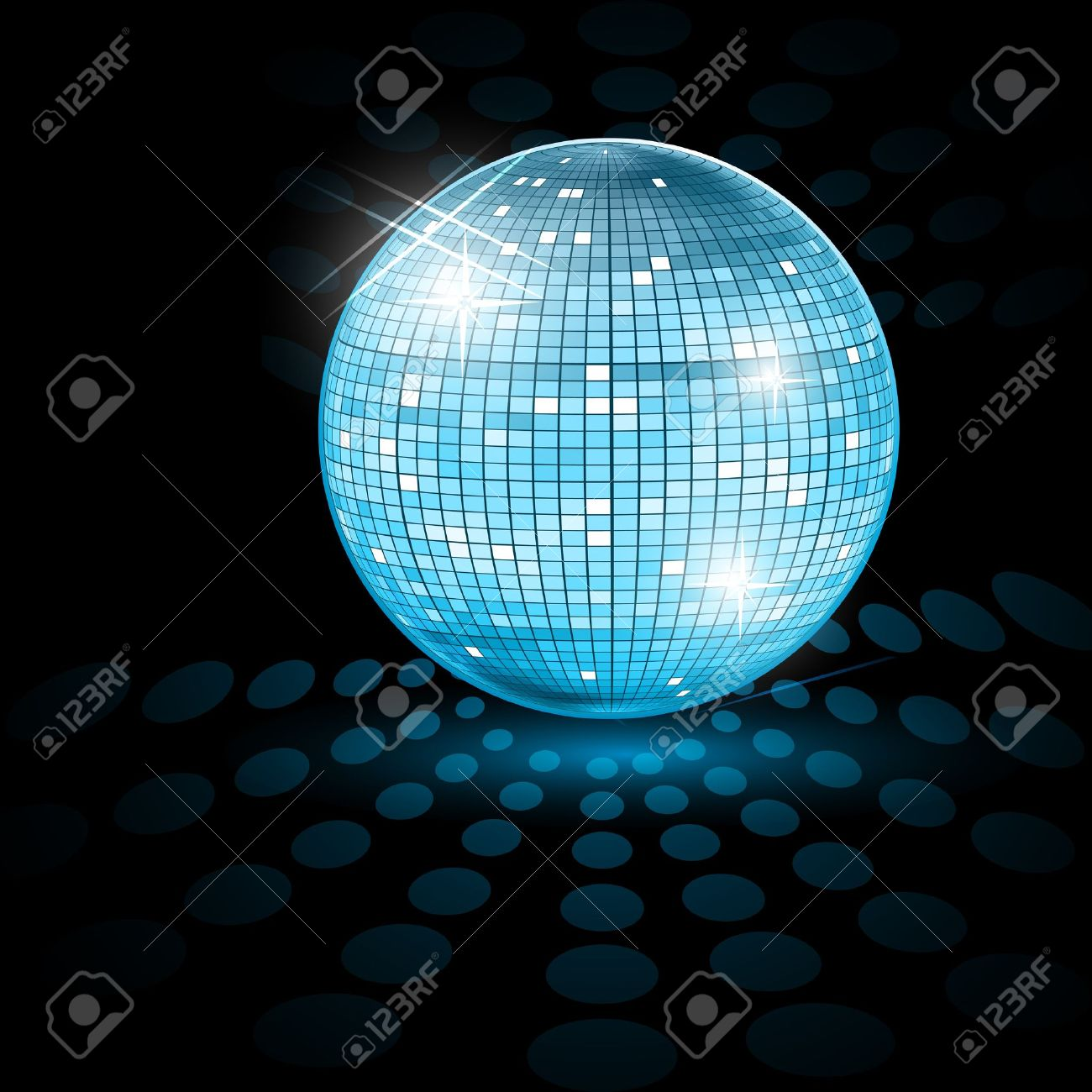 illustration of disco ball on abstract background - 9269550
