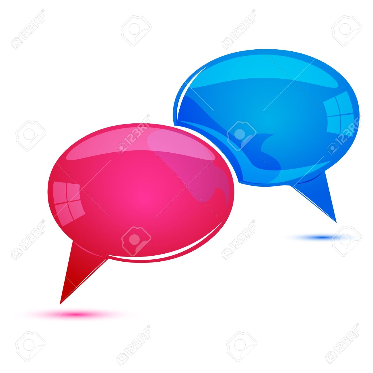 illustration of dialogue bubbles on white background - 9269527