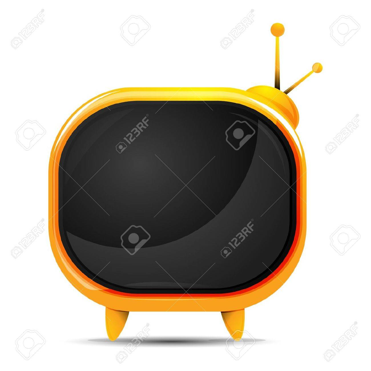 illustration of television on white background Stock Vector - 9269473